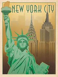 New York Poster : vintage american city prints anderson design group posters ~ Orissabook.com Haus und Dekorationen