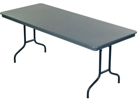 "Dynalite Lightweight Plastic Folding Table 72x36"", Folding"
