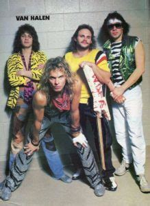 van halen  hair bands
