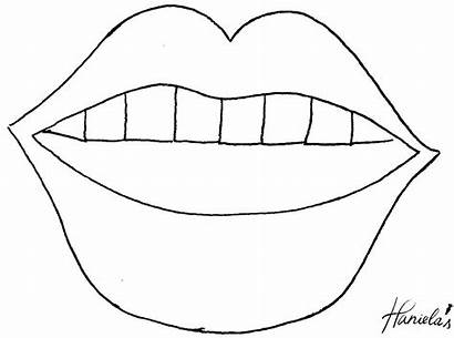 Template Lips Heart Cookies Lip Conversation Coloring