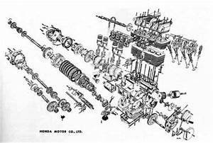 Barking Mad Speed Shop  Exploded View Diagrams Honda Cb