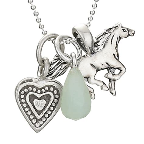 Horse and Heart Charm Necklace