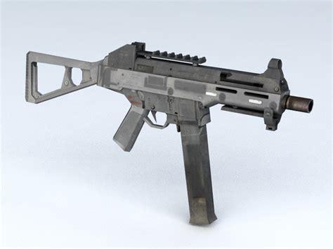 hk mp submachine gun  model ds max files   modeling   cadnav