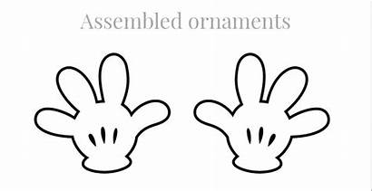 Mickey Mouse Hands Template Hand Printable Gloves