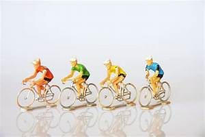 Vintage cyclist figurine Tour de France toy cyclers hipster