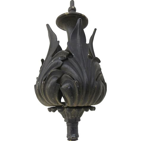 Large L Finials by Large Vintage Iron Finial L Chandelier From Blacktulip