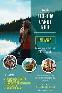 Small Church Budget Template Canoe Kayak Ride Business Flyer Template Postermywall