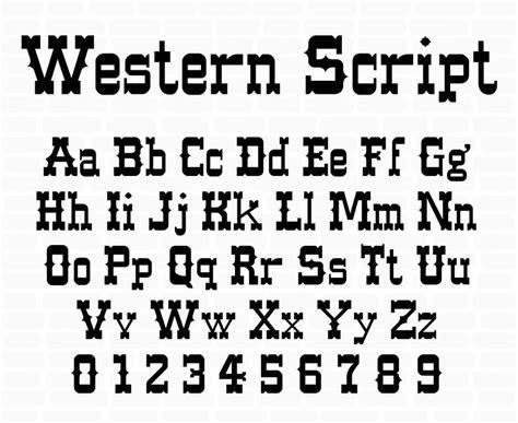 western font svg western alphabet wild western font cowboy etsy