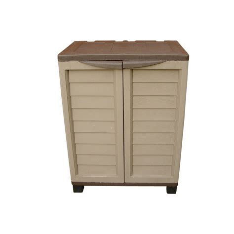outdoor patio storage cabinet outdoor mocha storage cabinet with 2 shelves gables and