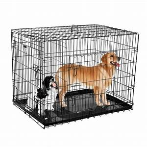 crate kennels large dogs cages 36 inch dog pet folding With dog cage for two dogs
