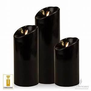 Led Kerzen Für Aussen Mit Fernbedienung : luminara led kerzen 3er set schwarz d 8cm glatt mit fernbedienung kaufen ~ Orissabook.com Haus und Dekorationen