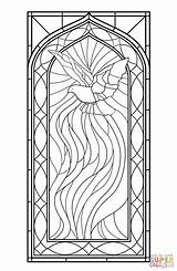 Coloring Stained Glass Holy Spirit Pages Window Printable Drawing Styles Paper sketch template