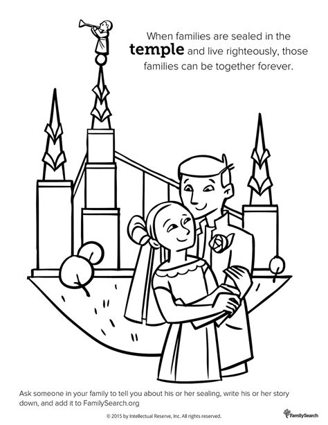 coloring page  primary class family   temple lds
