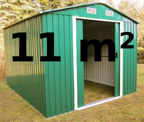 Gartenhaus Geräteschuppen 11m² aus verzinktem Stahlblech
