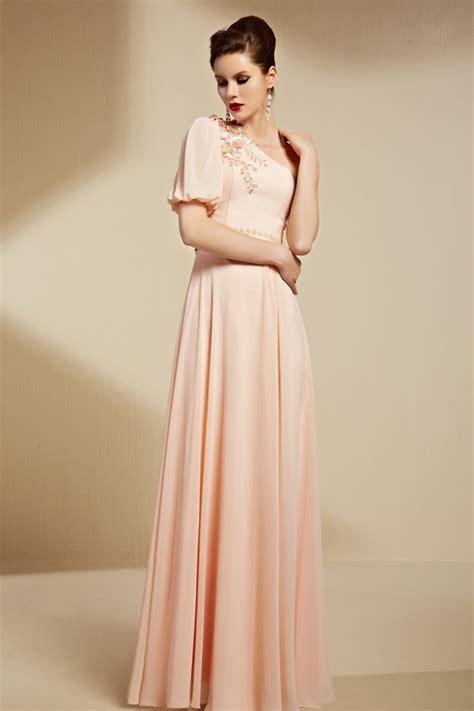 elegant  sleeve floor length formal dress evening gowns