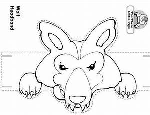craft a three little pigs and the wolf headband the big With wolf puppet template