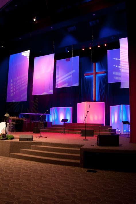 traditional  modern church stage design ideas