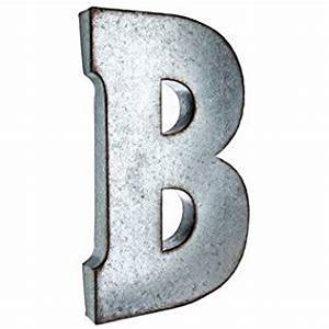 amazoncom large galvanized metal letter b With large metal letters hobby lobby