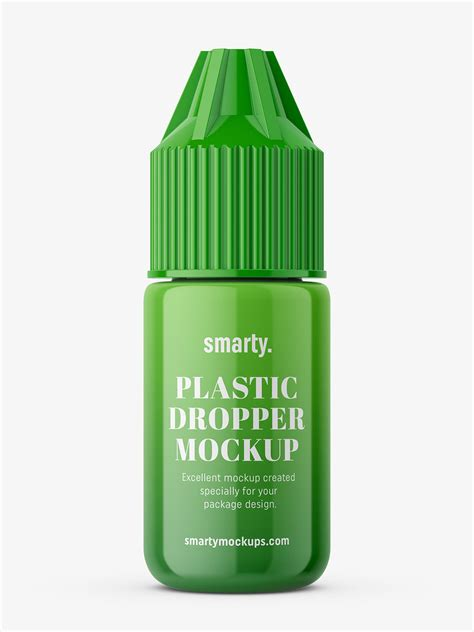 Bottle mockups make the process of presenting and packaging your designs in high quality photorealistic manner possible. Dropper bottle mockup / glossy - Smarty Mockups