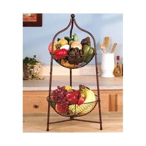 tier countertop storage basket fruit vegetable basket holder organizer baskets fruit