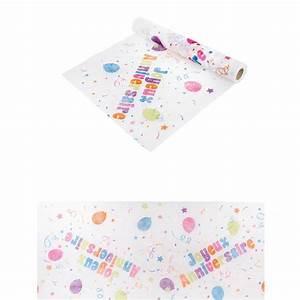 Chemin De Table Anniversaire : chemin de table joyeux anniversaire multicolore 5m ~ Melissatoandfro.com Idées de Décoration