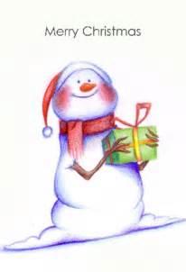 Free Printable Snowman Christmas Card
