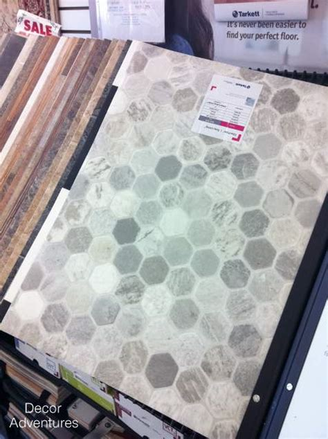 vinyl flooring hexagon picking out a new bathroom floor my makeover dreams come true 187 decor adventures