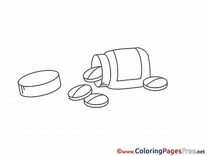 Pills Colouring Coloring Pages Medicine Sheets Sheet