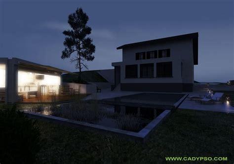 de nuit exterieur exterieur vue de nuit maison voiron is 232 re 38 piscine cuisine d 233 t 233 poolhouse