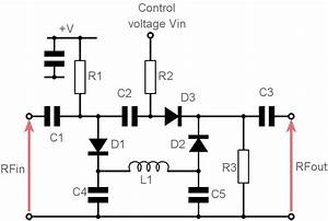voltage controlled variable attenuator pin diode With attenuator circuit