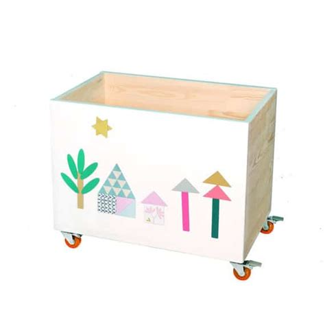 modern handcrafted wooden toy chests  nobobobo