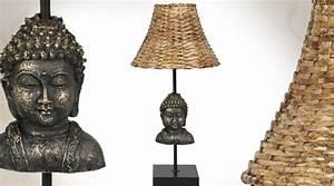 Abat Jour Osier : lampe de table d co t te de bouddha et abat jour en osier ~ Teatrodelosmanantiales.com Idées de Décoration
