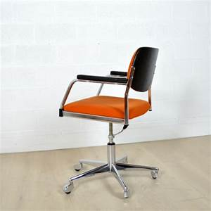 Chaise Bureau Vintage : chaise de bureau vintage roulettes ~ Teatrodelosmanantiales.com Idées de Décoration