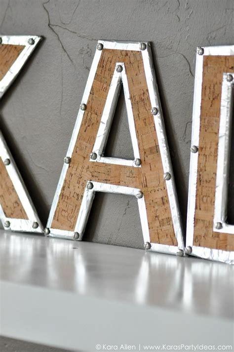 diy industrial inspired faux wood metal letters  images easy diy jewelry metal
