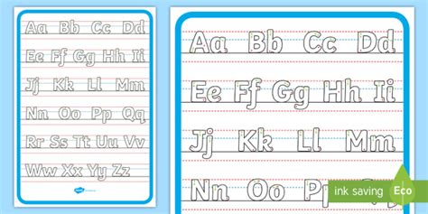 upper  lowercase handwriting  starting arrows display