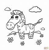 Zebra Baby Drawing Coloring Pages Cute Printable Getdrawings sketch template