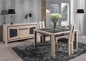 La table de salle a manger ceramique terre meuble for Salle À manger contemporaine avec salle a manger bois massif