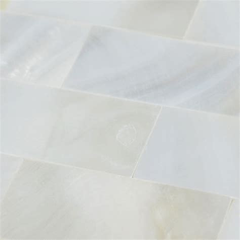 White Mother of Pearl Floor Tile Mosaic Seamless Subway