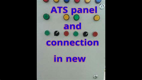 auto transfer switch ats working  ats control panel wiring diagram youtube