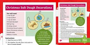 Salt Dough Christmas Decorations Craft Instructions