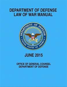 Law Of War Manual