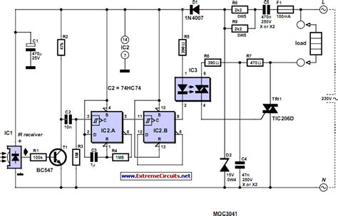 Off Infrared Remote Control Circuit Diagram