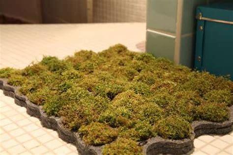 moss shower mat grassy bath gardens moss bath rug