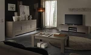 Meuble tv hifi contemporain chene gris jamie salon for Meuble de salle a manger avec modelle cuisine