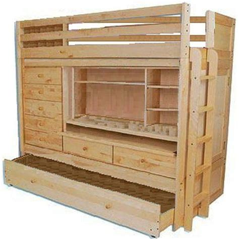 bunk bed with trundle and desk bunk bed loft all in1 w trundle desk chest closet paper