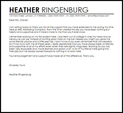 appreciation letter   boss  support letter