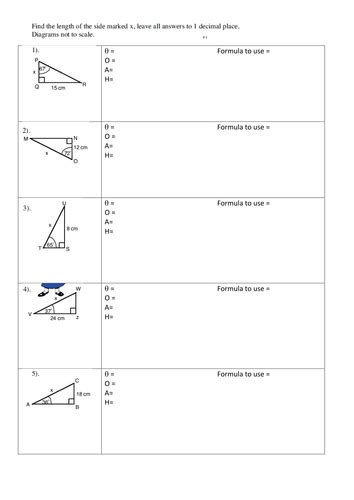trigonometry worksheet by emtay teaching resources