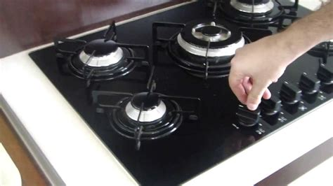 cooktop em vidro queimadores gas tripla chama xx