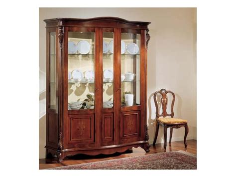 kitchen cabinets organizer luxury display cabinet with 2 doors in polished walnut 3145