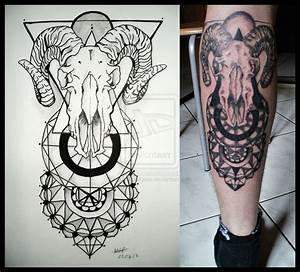 Traditional Skull Tattoo On Knee